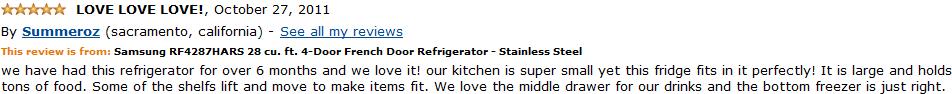 Samsung RF4287HARS customer review 3