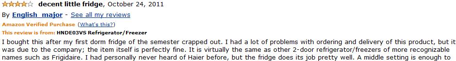 haier hnde03vs customer review 2